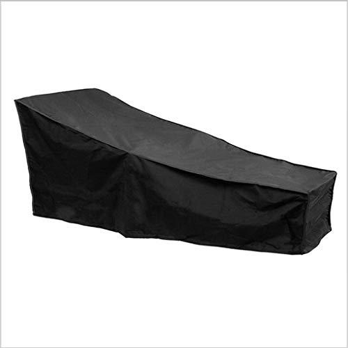 DONGZHI Oxford Mueble A Prueba de Polvo Cubrir por Sillón reclinable Rota Mesa Cubo Silla Sofá Impermeable Lluvia Jardín Patio Protector Cubrir (Color : Black, Size : 200x40x70x68cm)