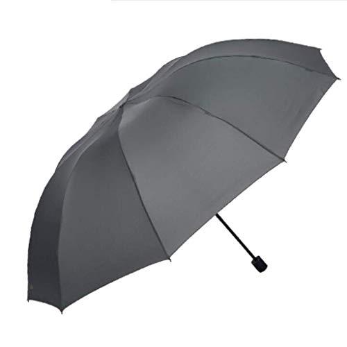 YNHNI Paraguas UV de protección Solar Grande Grande de Tres Personas, Paraguas a Prueba de Viento Dual de Doble Uso,Portátil (Color : Gray)