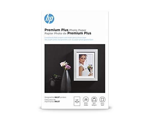 HP Premium Plus Photo Paper | Glossy | 4x6 | 25 Sheets (4WN03A)