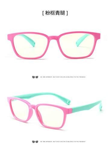 SPI kinderen optische bril eendelige safe eyeglas Plain Mirror siliconen anti-blauw licht bril brilmontuur