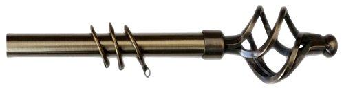 Kippen 1310oa Barra para cortina extensible, latón envejecido, 120–200cm