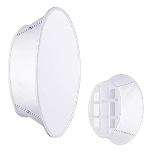 Neewer zusammenklappbarer weißer Softbox Diffusor Kompatibel mit Neewer 480/660/530 LED Lichtpaneelen, 11,5x11,5 Zoll Öffnung mit Riemenbefestigung und Tragetasche für Videoaufnahmen im Fotostudio