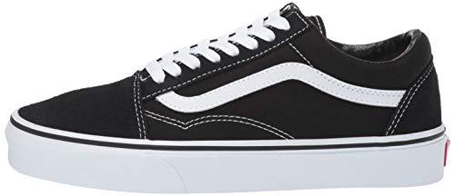 Vans Unisex Adults Old Skool Classic Suede/Canvas Sneakers, Black (Black/White), 10.5 UK (45 EU)