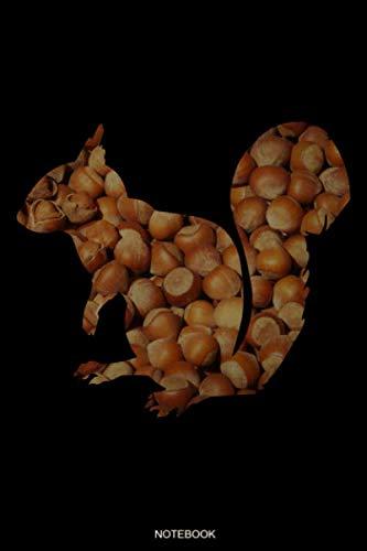 Notebook: Eichhörnchen Notizbuch Geschenk für Nagetier Besitzer und Tierfreunde Tagebuch Konzept Heft Lieblingstier Memo Notizen I Größe 6 x 9 I Liniert I 120 Seiten
