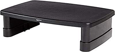 AmazonBasics Height-Adjustable Display stand for Laptop and Monitors with non-skid feet