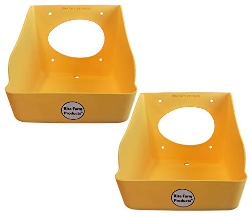 Rite Farm Products 2 Pack Washable Poly Egg Nesting Box Chicken Laying COOP NEST
