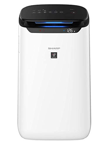 Sharp Air Purifier for Room & Offices | JAPAN TECHNOLOGY | Dual Purification - ACTIVE (Plasmacluster Technology) & PASSIVE FILTERS (JEMA Standard High Grade HEPA+Carbon+Pre-Filter) | Captures 99.97% of Impurities | Coverage Area: 550 sq. ft | Model: FP-J60M-W