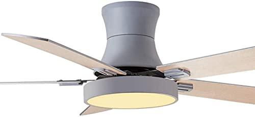 Ventilador de Techo nórdico Luz Moderna Sala de Estar Comedor Habitación Mute Home Fan Aladera Simple Fan Fan Light Fan para la Sala de Estar Dormitorio