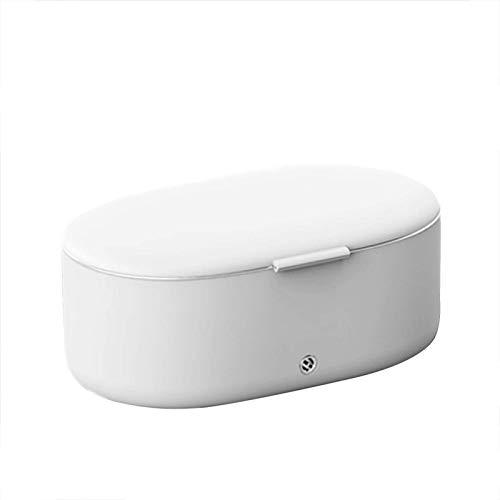 CYHT Ultraschallreiniger, Schmuckreiniger, mit Reinigungstuch, 45000 Hz / 24w, 360 ° Stereo-Reinigung, für Schmuck Silber-Ringe Anhängerbrille Metall-Münz-Rasierer-Prothese 19.1x11.7x7.8cm