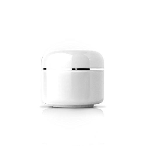 N&BF Designer geltegel leeg | Inhoud: 5 ml | witte potjes | voor het bewaren en presenteren van uv-gel | container met deksel | absoluut lekvrij & dicht