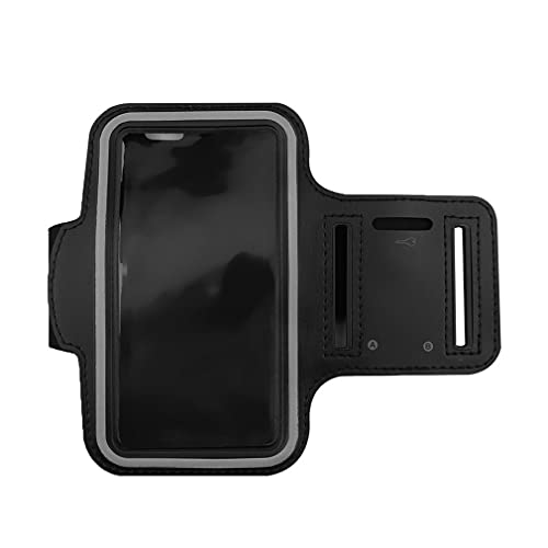 Haowen Estuche para Brazalete para teléfono para Correr Portatarjetas Deportivo Resistente al Agua para iPhone 6 / 6S Negro M