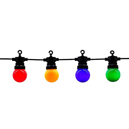 LOKATSE HOME 45.9Ft Globe String Lights Multicolor with 20LED Bulbs Weatherpoof for Christmas Indoor Bedroom Outdoor Garden Patio Holiday Decoration