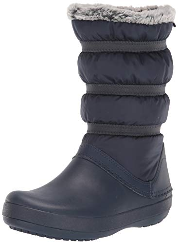 crocs Damen Crocband Winter Boot Women Schneestiefel, Blau (Navy), 38/39 EU