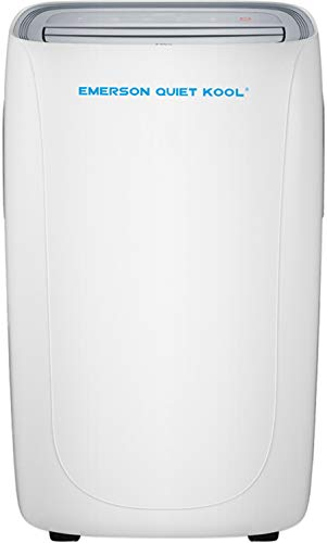 Emerson Quiet Kool, EAPE12RD1 Heat/Cool Portable Air Conditioner with Remote Control for Rooms up to 400-Sq. Ft, White