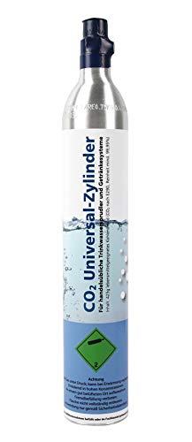 GPG Soda CO2 Universal-Zylinder für Getränkesprudler z.B. Soda Stream, 425 g Kohlensäure für bis zu 60 Liter Wasser