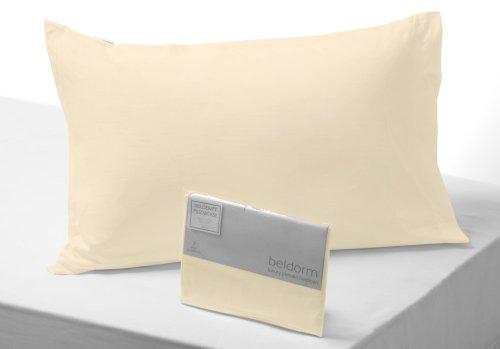 Belledorm - Taie Oreiller Coton Égyptien 400 Fils, Creme Qualité Luxe en Lin