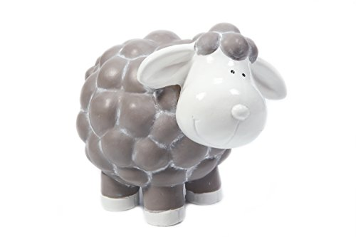 HEITMANN DECO Keramik-Schaf, Dekofigur - Dekoration für Haus und Garten - Gartendeko, Sommerdeko, Frühling