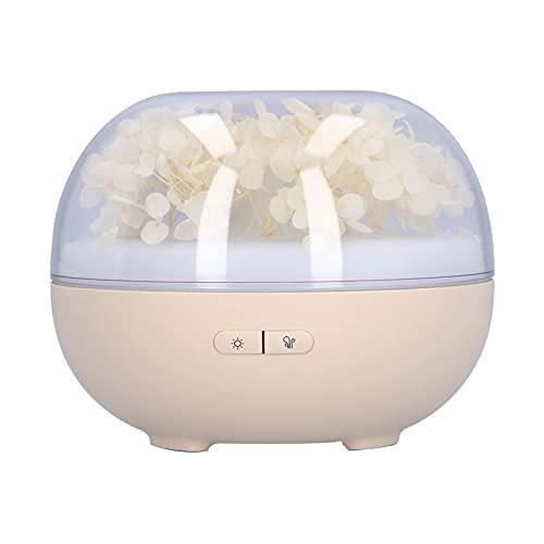 Difusores de aceites Esenciales, Mini difusor de aromaterapia Beige con luz USB, difusor de humidificador de Escritorio