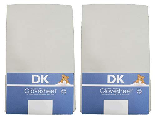 DK Glovesheets 83 2 x 50 cm, con angoli, per culla, 100% cotone Jersey, a culla Next Me 2, colore: grigio, 2 confezioni