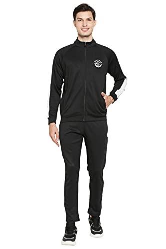 Alstyle Men's Stylish Deep Black Track Suit