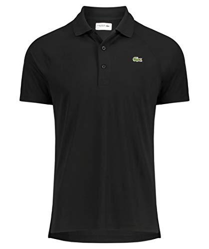 Lacoste Sport Herren Tennis-Poloshirt Kurzarm schwarz (200) L