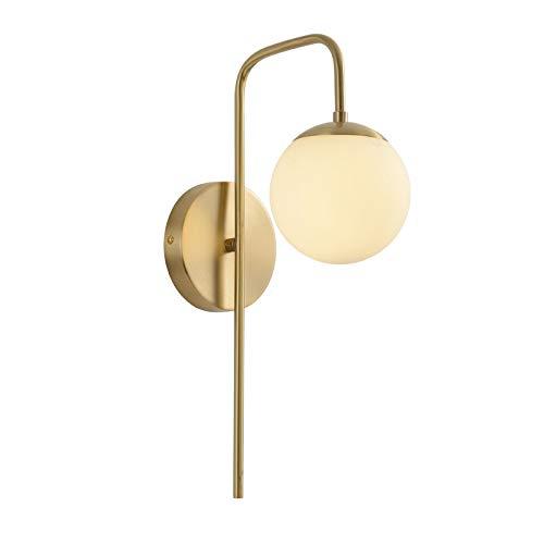 Sala de estar americana lámpara de pared dormitorio lámpara de noche pasillo Escalera nórdica luz simple alta 40 * de ancho 12cm de oro: Amazon.es: Iluminación