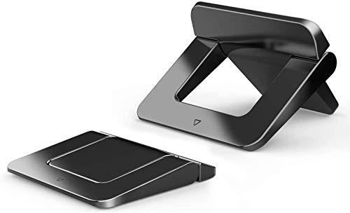 DESON Mini Supporto PC Portatile, 2 Pezzi Supporto per Laptop Pieghevole Sottile e Senza Peso Supporti per Apple MacBook Lenovo HP Acer Notebook ASUS