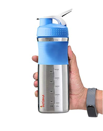 Incrizma Unisex's Sportmixer Stainless Steel Protein Shaker Bottle