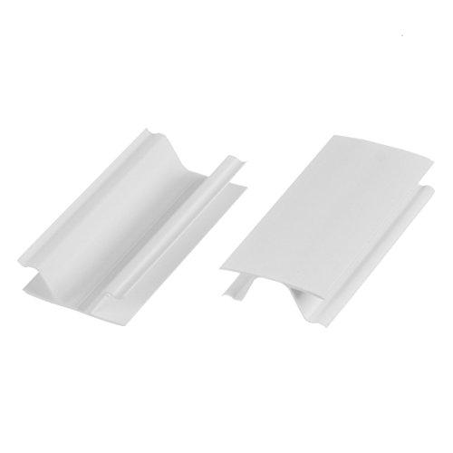 HOLZBRINK Eckverbindung Sockelblende Sockelleiste für Einbauküche 150mm Höhe WEISS Hochglanz - HBK15