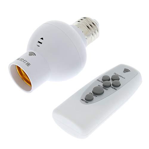 FLAMEER Interruptor de Casquillo de Portalámparas Inalámbrico E27 con Control Remoto de Dígitos