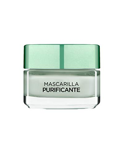L'Oreal Paris Dermo Expertise - Arcillas puras mascarilla purificante y matificante, color verde - total 50 ml