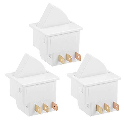 YeVhear Interruptor de luz para puerta de frigorífico momentáneo 1NC 1NO AC 250V 0.5A 3 piezas