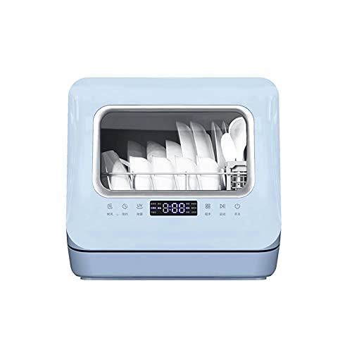 Bdesign Lavabajos Totalmente automático de encimera con configuraciones de 6 Lugares para lavavajillas compactos encimeras o instalación incorporada Lavavajillas de Acero Inoxidable