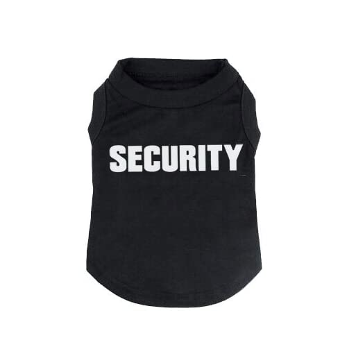 BINGPET Security Dog Shirt Summer Clothes for Pet Puppy Tee Shirts Dogs Costumes Cat