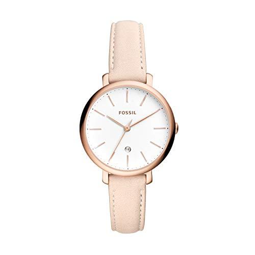 Fossil Damen Analog Quarz Uhr mit Leder Armband ES4369