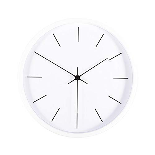 HLONGG Nordic Modernes Minimalistisches Stilles Wohnzimmer Wanduhr, Modisch Und Kreative Uhr, Für Wohn- / Schlafzimmer/Büro Quarzuhr Verwendet,White1