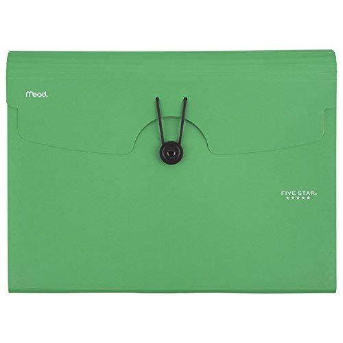 "Five Star 13-Pocket Expanding File, 13"" x 9-1/2"", Green (35144AQ8)"