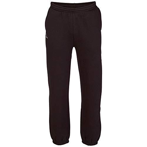 Kappa Herren Jogging-Hose Snako | Lange Sport-Hose Retro-Look I Trainingshose mit Eingriffstaschen | 005 black, Größe M
