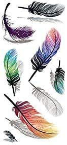 Feather 3D Flash Tattoo Temporary Tattoo Sticker Jewelry Tattoo for Hand Arm Body by Beyond