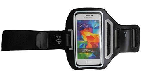 Sport-Armband Oberarm Tasche passend für Sony Xperia X Compact / XZ1 Compact / XZ2 Compact Handy Halterung Fitness-Hülle, Tasche mit großem Fach Jogging, Dealbude24 Trendy Klein Schwarz
