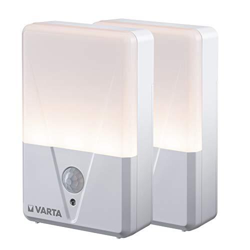 VARTA Motion Sensor Nachtlicht (batteriebetrieben) Bewegungsfunktion, LED Lichtleistung von bis zu 17 Lumen