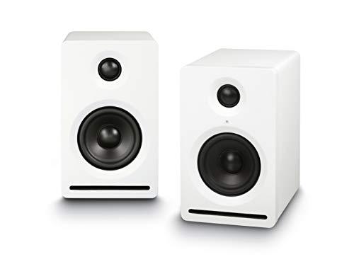 Dynavox Impuls Micro Aktiv-Lautsprecher 2.0, Wireless Streaming von Smartphone, Tablet, PC , Regal-Box mit kompaktem Gehäuse, dynamischer Bass, Weiss