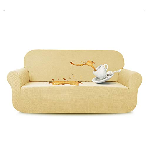 N\C XIKUO Funda elástica para sofá de Dos plazas Fundas de sofá repelentes al Agua Perro Gato Sofá a Prueba de Mascotas Fundas para sofá de Dos plazas Protectores