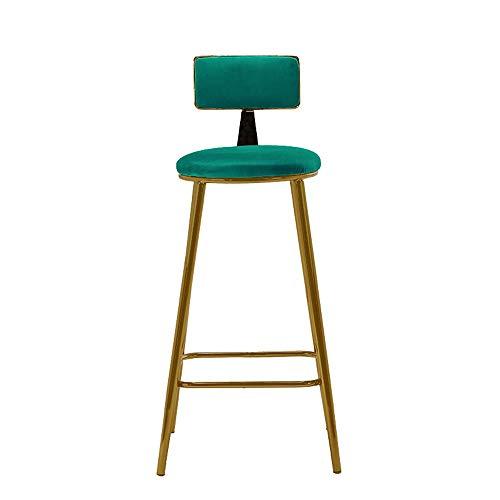 Barstools-BYTGK metalen barkruk zachte zithoogte 70 cm hoge rugleuning kruk ontbijt huisstoelen keuken Salon J1127