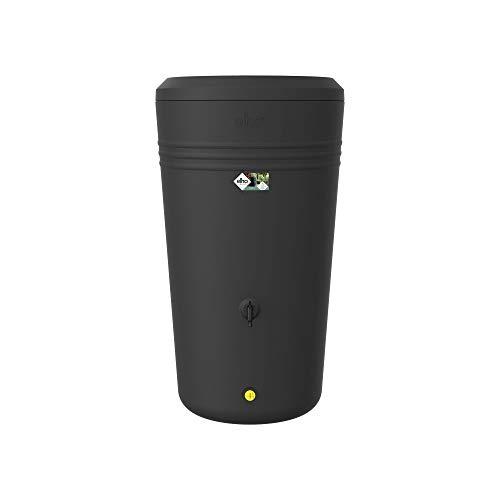 elho green basics Rainbarrel – Runde Regentonne mit Pflanzenkasten in Living Black – Stilvolle Dekoration für den Außenbereich – Ø 59 x H 105,9 cm