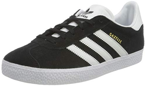 adidas Originals Damen Gazelle Sneaker, Core Black/Footwear White/Gold Metallic, 36 2/3 EU
