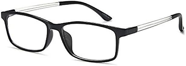 VVDQELLA Blue Light Blocking Glasses, 1.5 Computer Reading Glasses for UV Protection Anti Eyestrain TR90 Lightweight Frame Women & Men (1.50x)