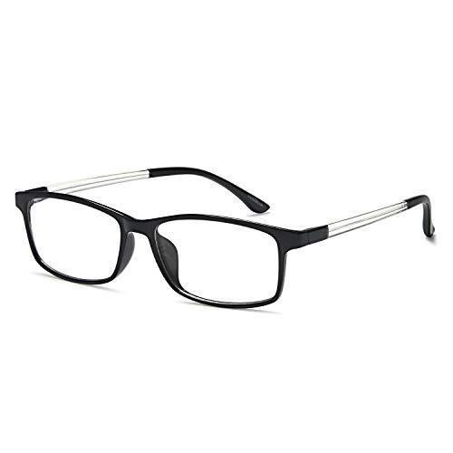 VVDQELLA Lesebrille 0,5 Blau Licht blockierende Computer Brille Vintage TR90 Unisex Männer Frauen für UV-Anti-Eye Fatigue