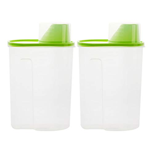 Review Of POPETPOP 2pcs Pet Dog Food Storage Container - Cat Food Dispenser with Pour Spout Measurin...