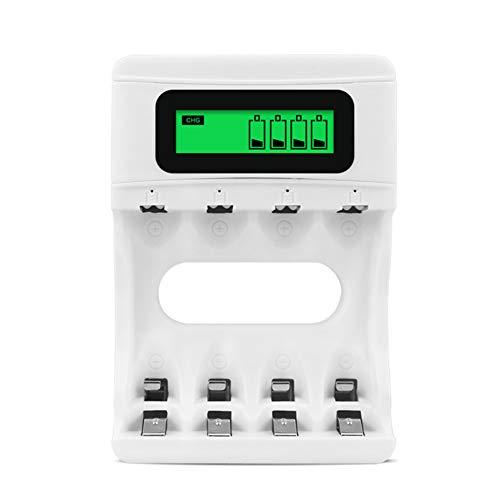 Cicony USB Cargador de batería para AA, AAA, NI-MH, NI-CD Pilas Recargables con indicador LED, Mini Ideal para Viajes